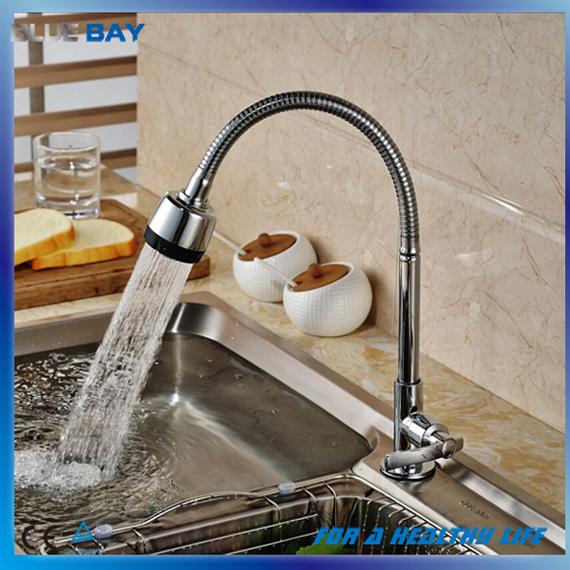 Chrome Singel Lever Only Cold Brass Kitchen Sink Mixer