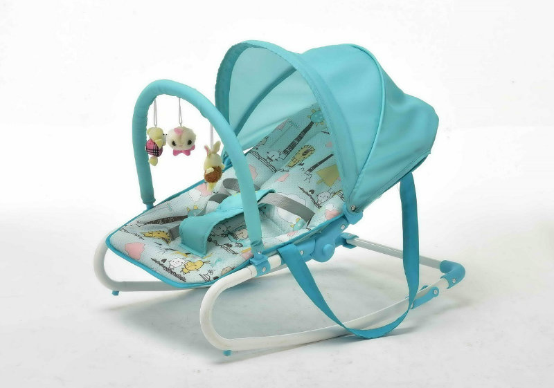 Baby Rocker with Toy Bar and Canopy