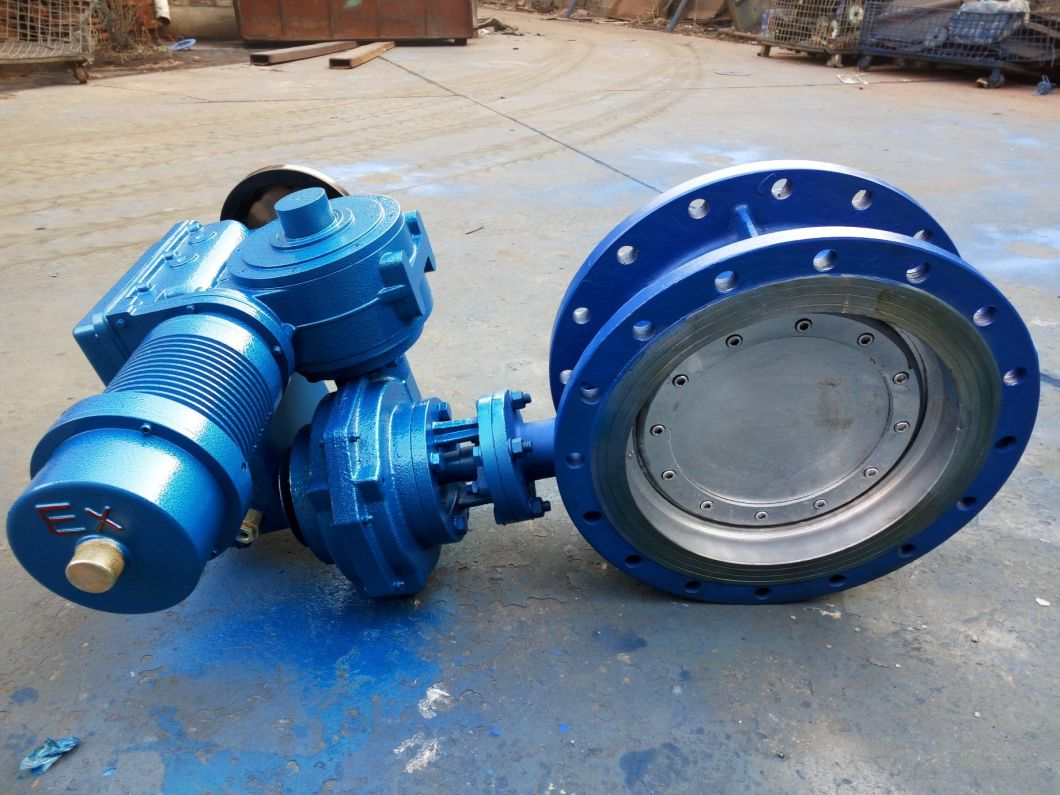 Triple Offset Metal Sealed Butterfly Valve with Electrical Actuator