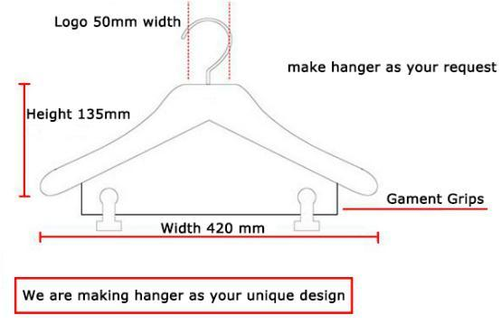 High Quality Cotton Padded Hanger for Cloth