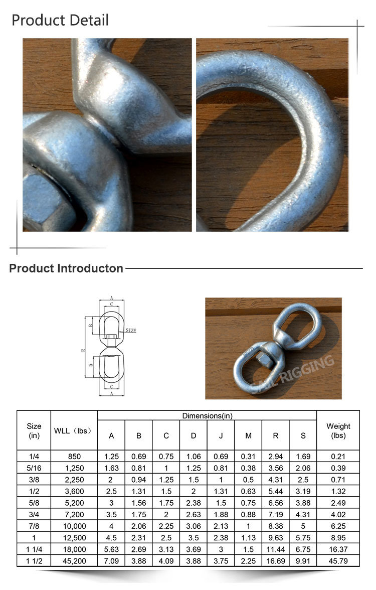 Drop Forged Us Type Chain Swivels (G402)