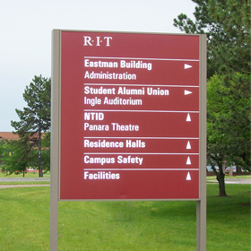 Outdoor Aluminum and Stainless Steel Traffic Signs