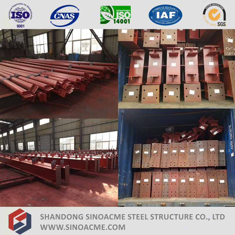ISO Certificated Low Cost Steel Truss Storage/Garage/Warehouse