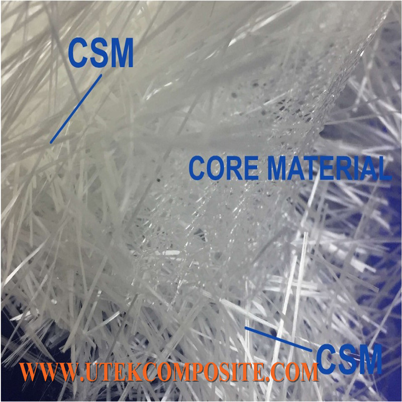 Rapid Flow Speed Fiberglass Flow Medium Core Mat