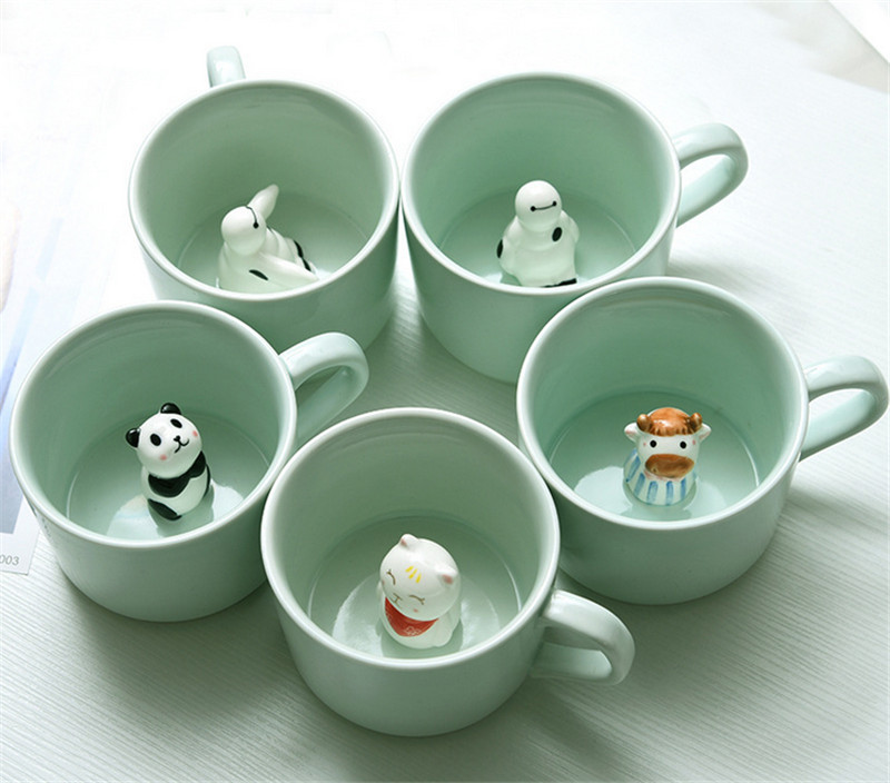 Cute Mug Cup Two or More Styles for Christmas Gift to Choice