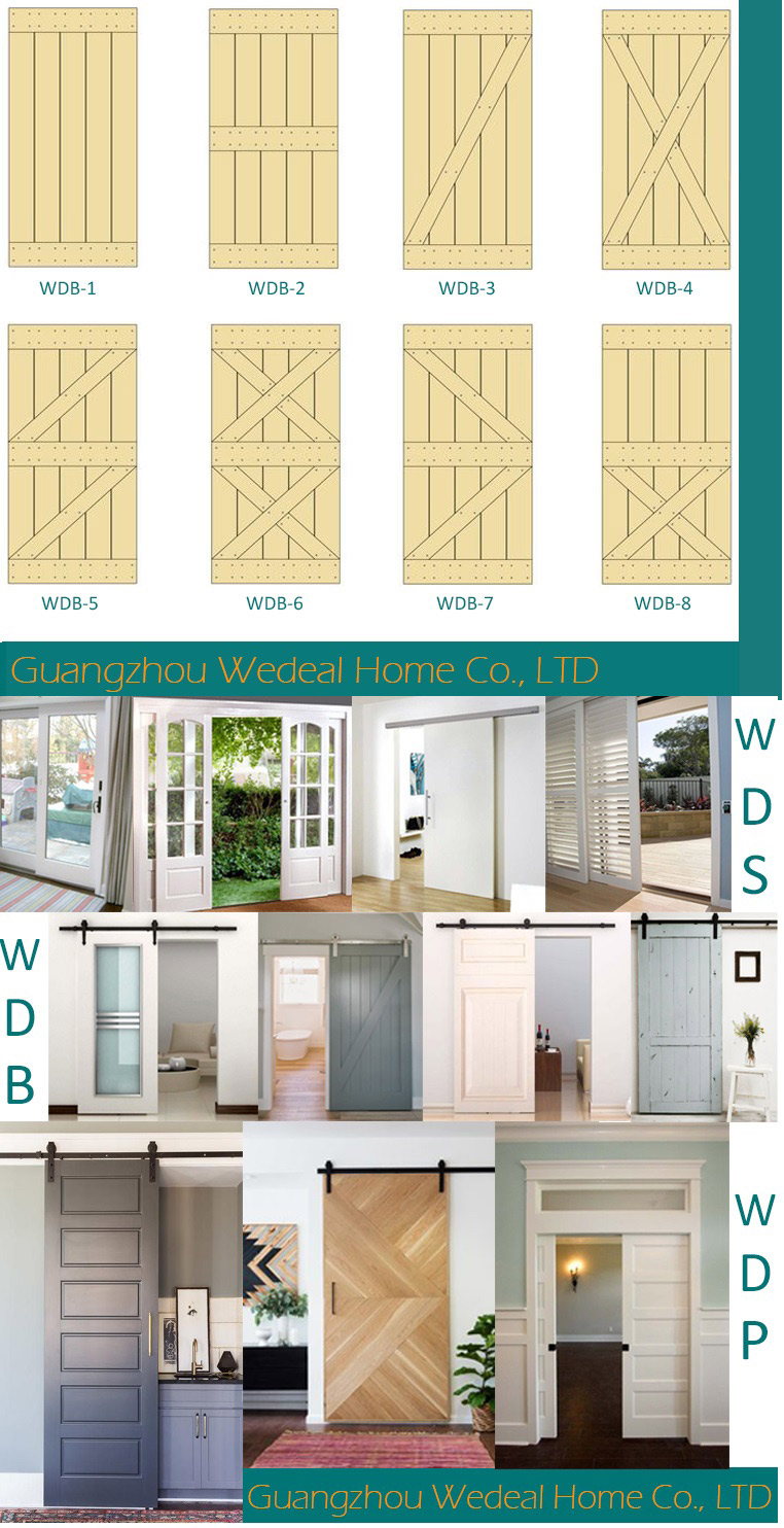 Glass Sliding Patio French Wooden Door for Room/Hotel/Project