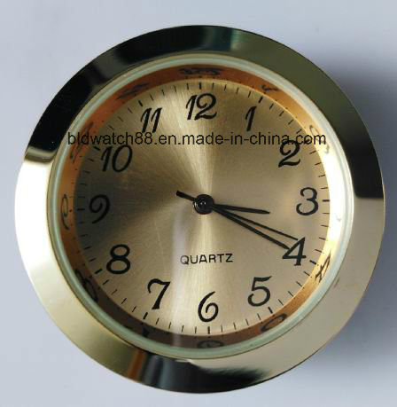 Mini Clock Silver Metal Insert Clock Desk Timer Clock Gift