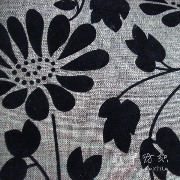 Decorative Sofa Fabric Polyester Linen Look with T/C Backing