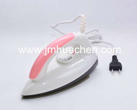 Hot Sale Electric Dry Iron Home Appliance Pink