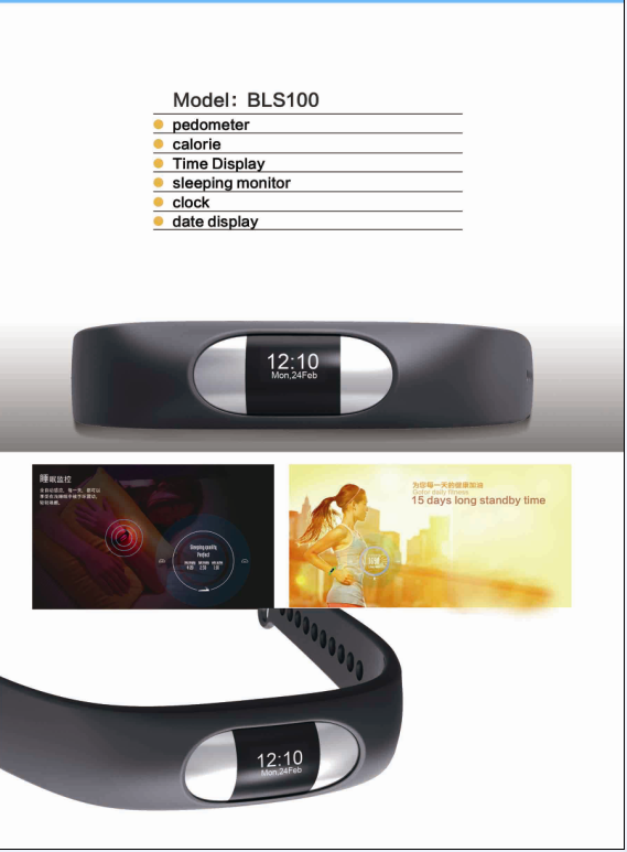 Promotional and Gifts Pedometer Smart Sport Bracelet