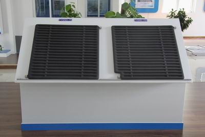 New Patent Ceramic Material Built in Solar Collector for Heating System
