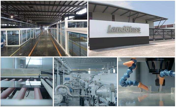 Landvac Thermal Insulation Vacuum Plain Glass for Office Glass Walls