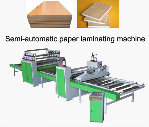 Wood Grained Paper Stick Machine with Smooth and Steady Press
