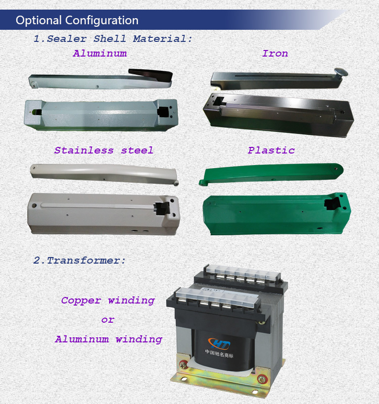 Hand Sealing Machine with Cutter and Roller Film Platform for Packing Bags Seal and Cut