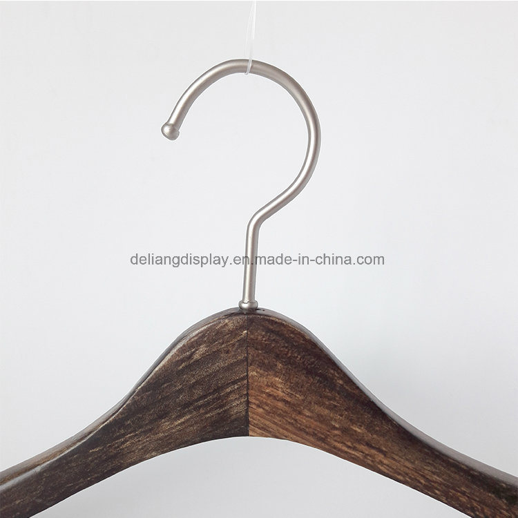 Lotus Wooden Hangers, Brush Color, Pearl Nickle Hanger for Female
