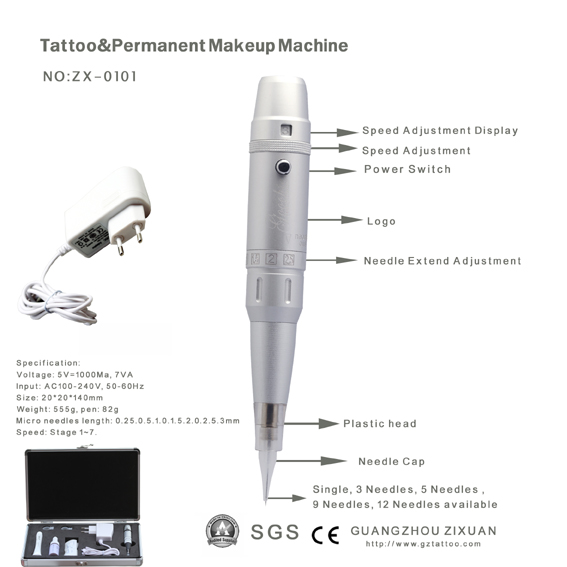 Cosmetic Semi Permanent Makeup Digital Tattoo Machine