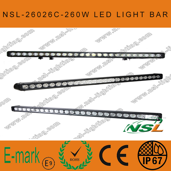 43 Inch LED Driving Light Bar, 4x4 260W LED Driving Light, 10W CREE Light Bar, CREE Single Light Bar