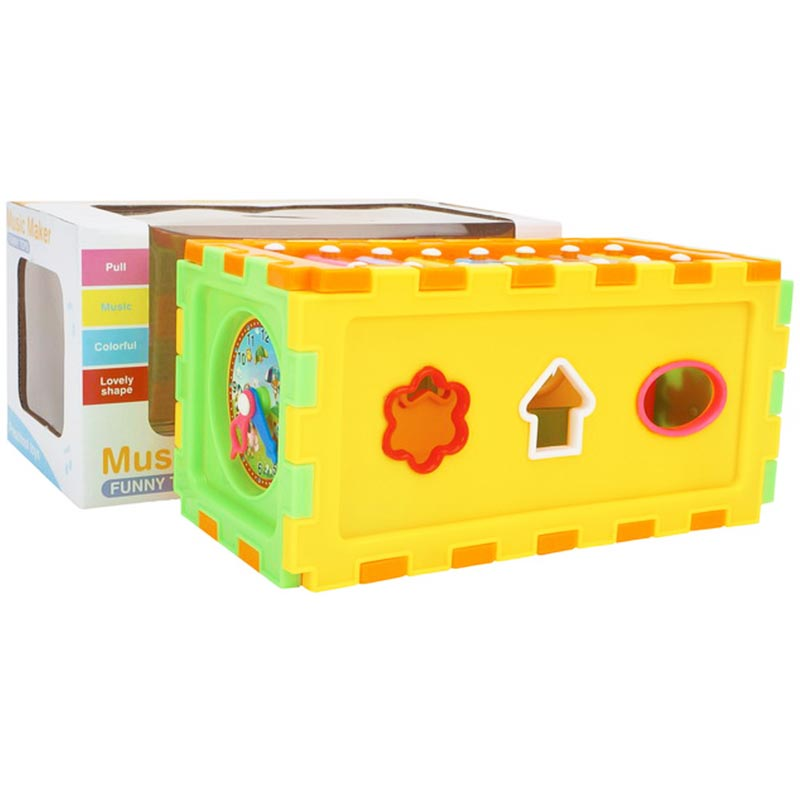 Educational Knock Key School Bus Musical Toy