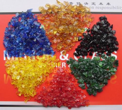 Lanscaping Glass Sand Crushed Light Purple Glass Chips Decorative Glass