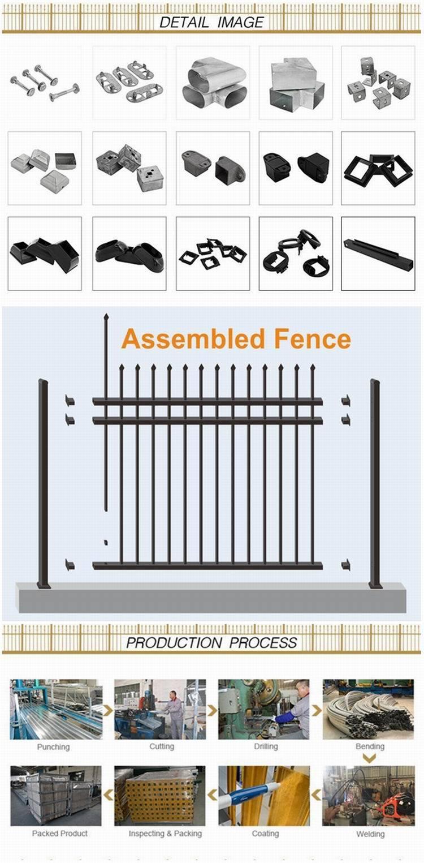 Euro Style Modern Decorative Spear Top Metal Garden Fence