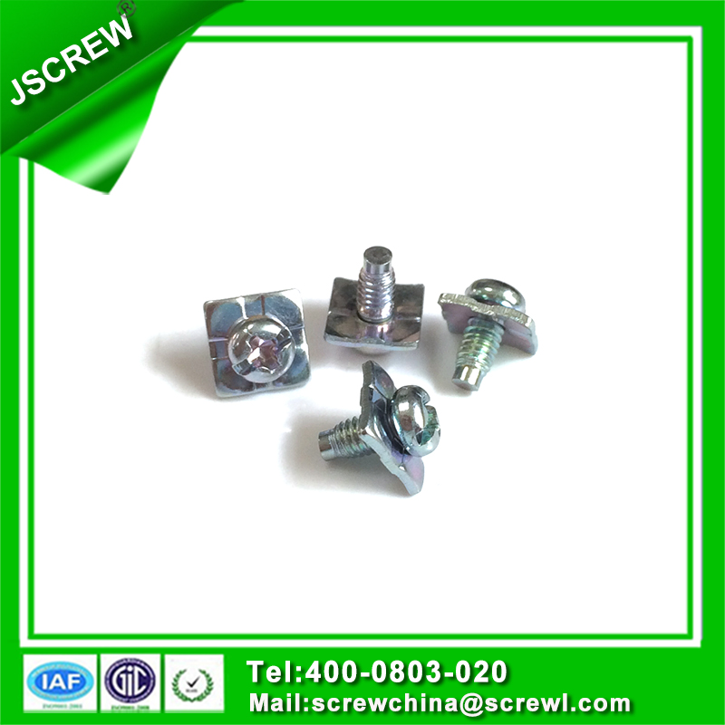 Pan Head Screw with Square Washer Attached