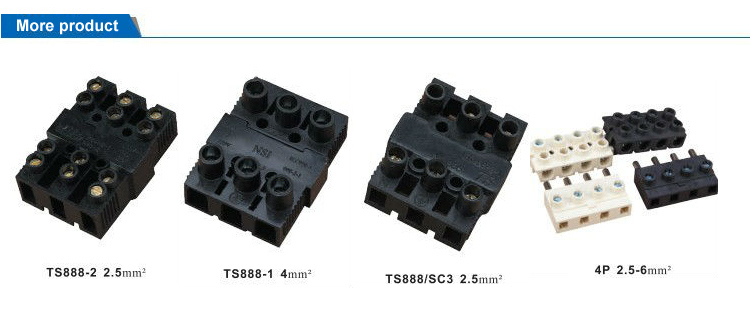 Ts888/Sc3 Electrical Plastic Plug-in Terminal Block Connector