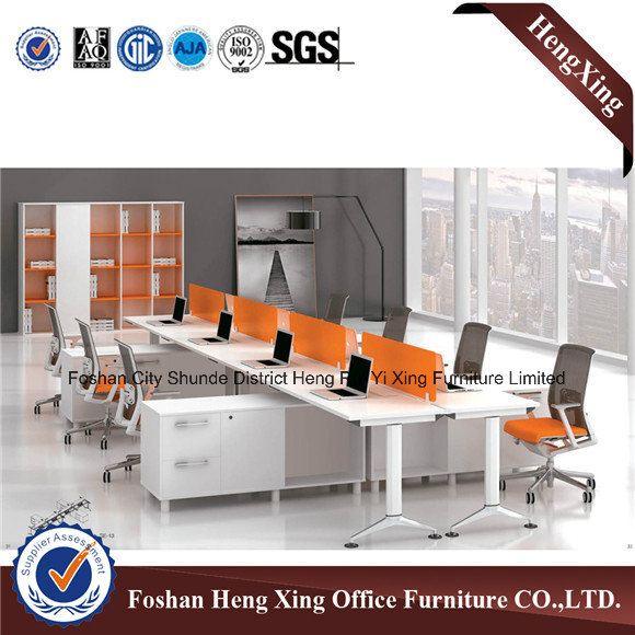 Metal Structure 8 Seats Wooden Workstation Office Partition (HX-6D056)