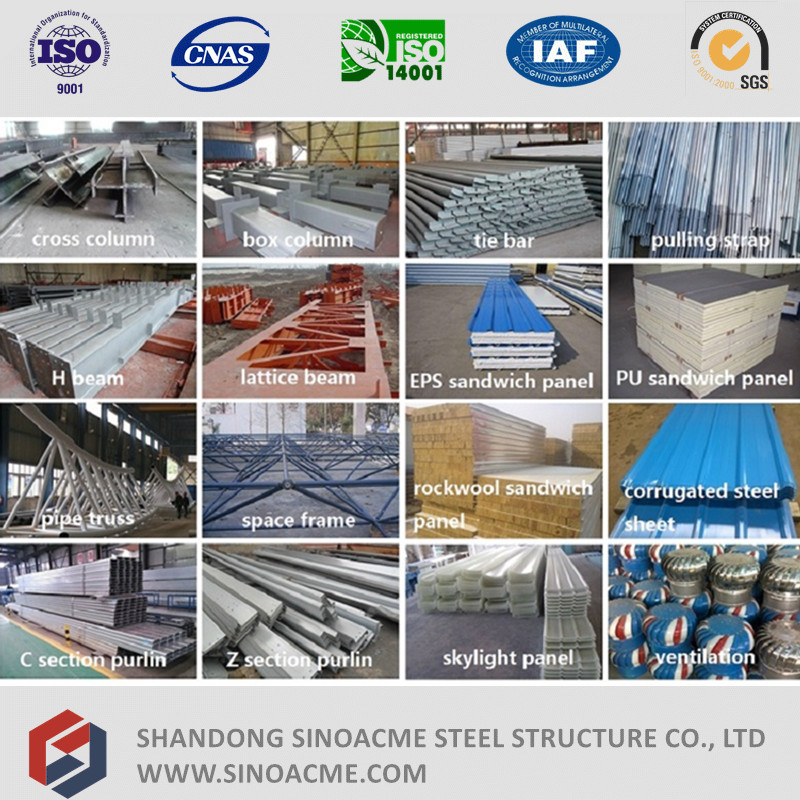 Steel Structure Installation of Movable Portal Frame Warehouse