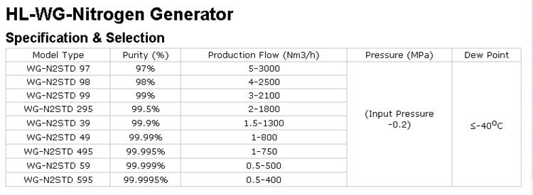 High Quality Psa Nitrogen Generator (99.9995%)