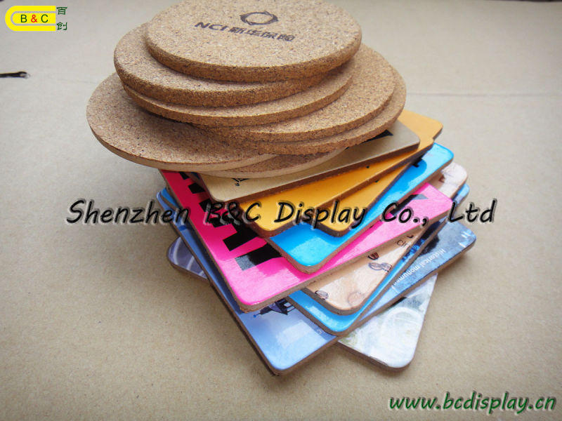 Cork Cup Pad, Cork Placemat, Cork Coaster Set, Cork Coasters (B&C-G076)