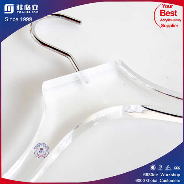 Elegant Unique Design Acrylic Clothes/Apparel Hanger