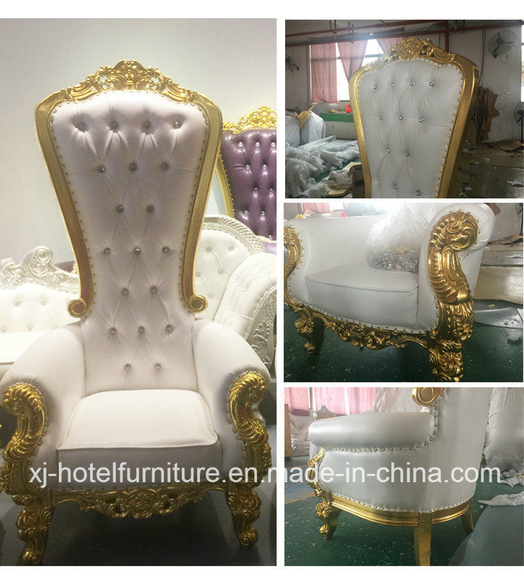 Luxury Royal/Throne/King Chair for Wedding/Home/Bedroom/Hotel/Banquet