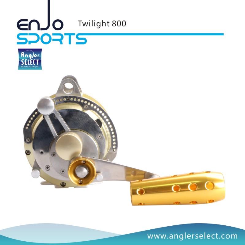 Angler Select Twilight Sea Fishing Aluminium 8+1 Bearing Sound Alarm Trolling Fishing Tackle Fishing Reel for Marine and Boat (Twilight 800)