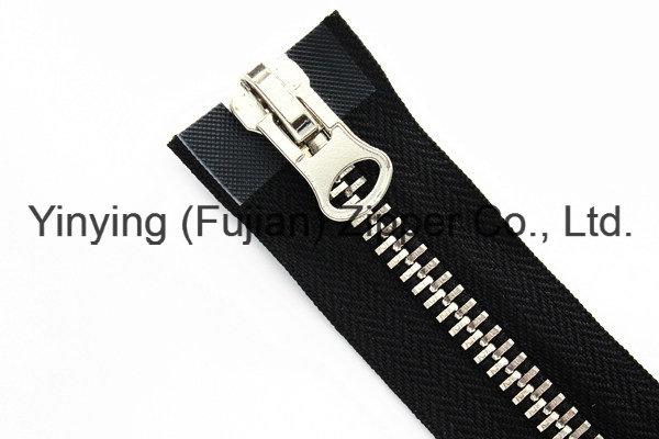 5# Two Way Open Zipper with Platinum Regular Teeth