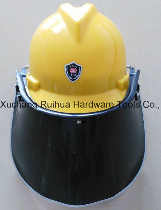 Protective Face Mask, PC/PVC Faceshield Visor, Face Shield with Safety Helmet, PVC Face Shield Visor, PC Face Shield Visor, PC Green Faceshield Visor