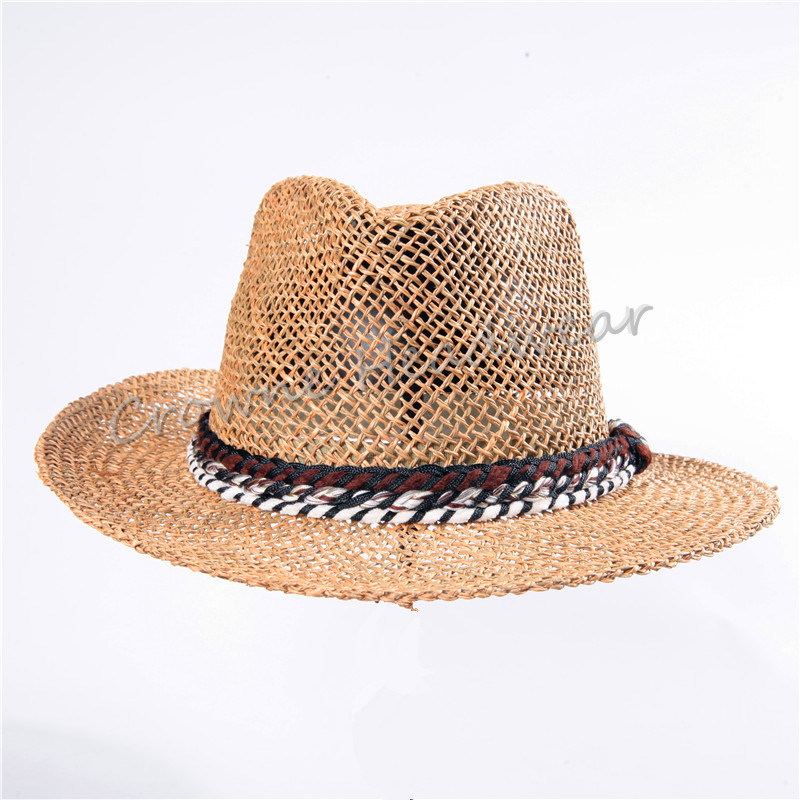 Widebrim Summer Hat Straw Paper Panama Bucket Hat