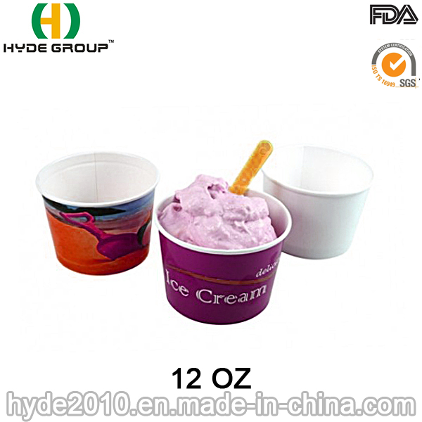 Disposable Ice Cream Paper Cup, Paper Bowl (12oz-1)