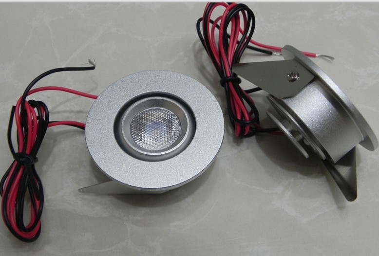High Quality Silver/Black 1W/2W LED Recessed Cabinet Spotlight LC7255