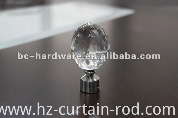 China crystal curtain pole finials Manufacturers