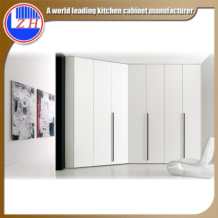 Glossy White Wood Wardrobe for Hotel Furniture (customzied)