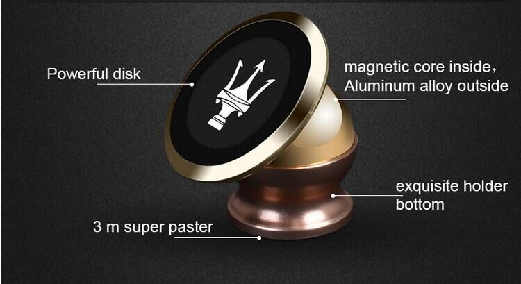 Magnet 360 Degree Rotation Car Mobile Phone Holder