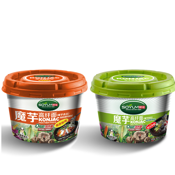 Dietary Fiber Food Konjac Spinach Noodles/Healthy Pasta