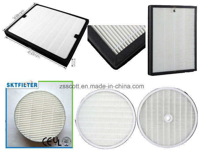 Vacuum HEPA Air Filter for Air Purifier/Air Cleaner