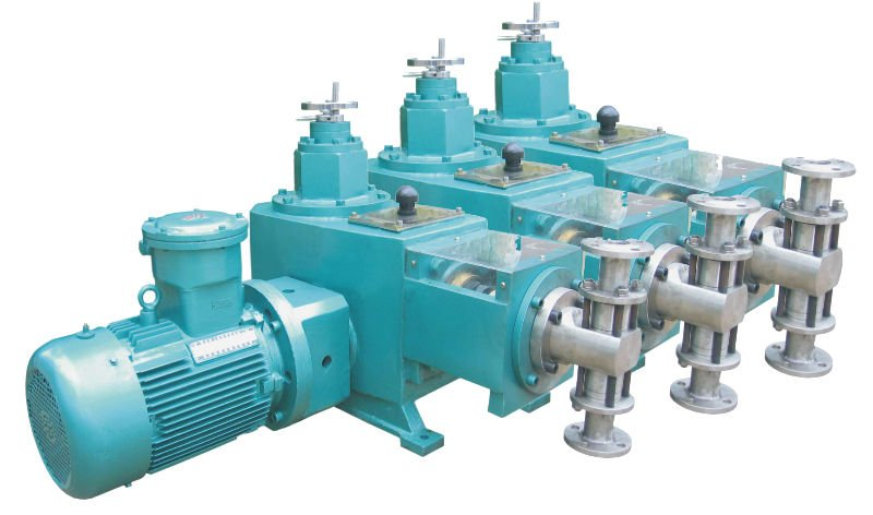 Multiple head metering pump