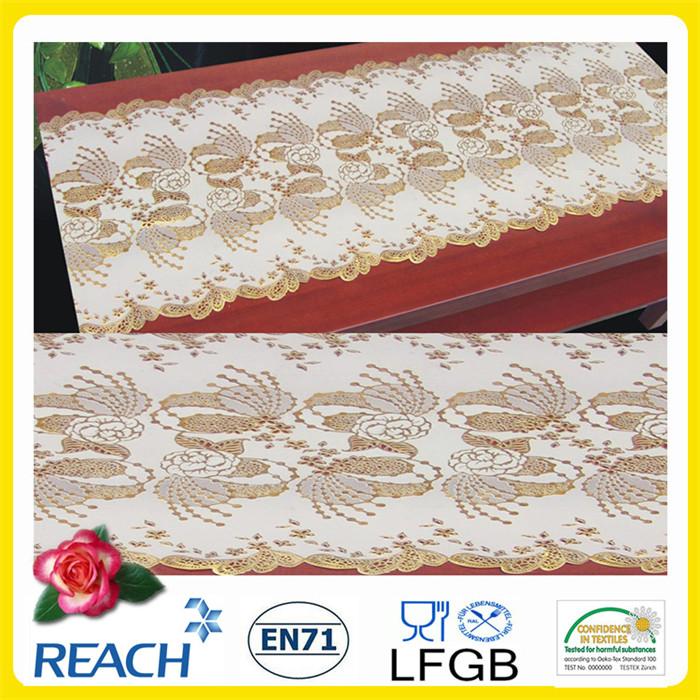 Cheap Wholesale 50cm Width Crochet PVC Long Lace Tablecloth