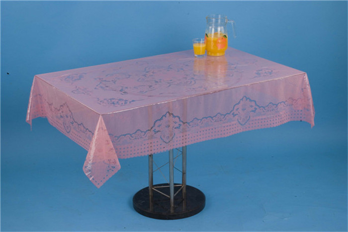 LFGB China Factory New Independent Designtransparent Printed Tablecloth 120*152cm (TZ0008)