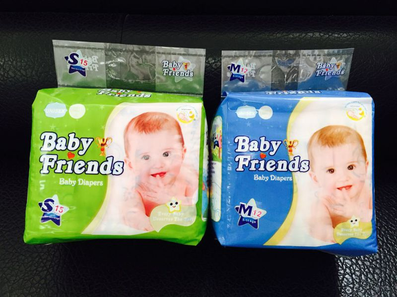 PP Tape PE Film Disposable Baby Diaper Nappy Factory
