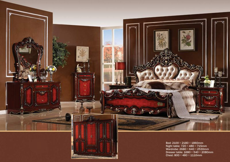 Bed Set for Classic Bedroom Furniture (W816)