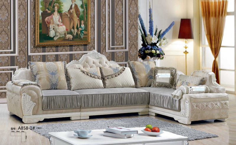 Best Quality New Classic Fabric Sofa, Saudi Arab Sofa (A858)