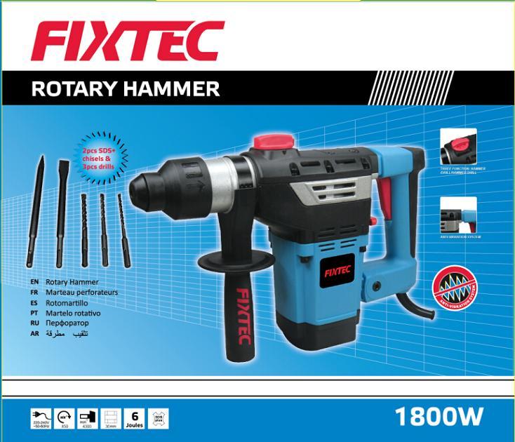 Fixtec Power Tool 1800W 36mm Rotary Hammer (FRH18001)